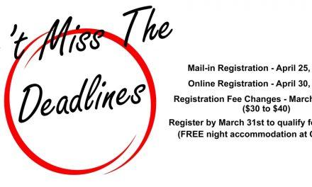 AGM 2020 Registration Deadline